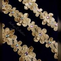 Renda Bunga Diamond Meteran