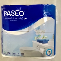 tissue toilet paseo 3ply 4roll 300sheets (isi 4roll)