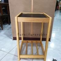 Rak dispenser kayu