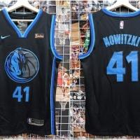 f4565501b75 Jersey Basket NBA City Edition Hitam Dallas Mavericks Dirk Nowitzki