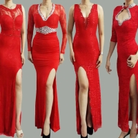 Long dress dress pesta