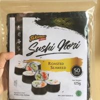 TOKINORI 50 Sheet Yaki Sushi Nori HALAL MUI Roasted Seaweed uk 21x19 c