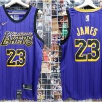 782156ab1c0 Jersey Basket NBA Lakers City Edition Ungu Lebron James 2018 2019