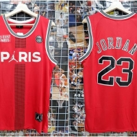 1fd1032a93c Jersey Basket PSG Paris Merah Michael Jordan 2018 2019