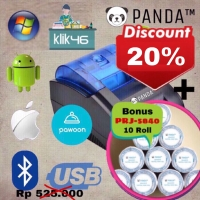 PRINTER KASIR/PPOB THERMAL 58MM PANDA PRJ-58D ANDROID (USB+BLUETOOTH)
