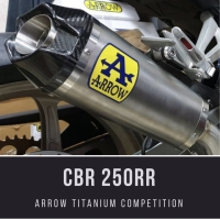 Arrow Titanium Competition Silencer w/ Project One Header CBR250RR