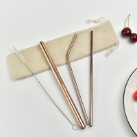 [IMPORT] Rosegold Sedotan Stainless | Straw Stainless Steel, Food Grad