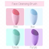 Face cleansing brush/ facial cleansing brush/ alat pembersih wajah - Merah Muda