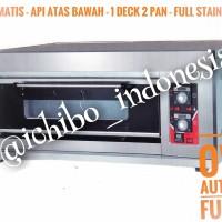 Gas oven roti kue 1 dek 2 loyang full automatic full stainless