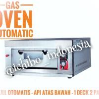 Gas oven roti kue 1 dek 3 loyang full otomatis api atas bawah