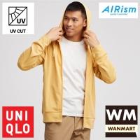UNIQLO AIRism Jacket Men Jaket Pria UV CUT Hoodie Retsleting Yellow
