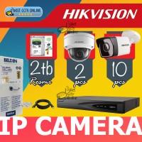 Paket 12 IP Camera Hikvision IPCam Poe Indoor Outdoor Install Dipandu