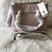 TB fleming small tote shell pink