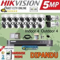 Paket CCTV 5MP 5 megapixel Setting dipandu sampai Online