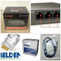 Paket IP Hikvision 8 Channel IPCam Camera instalasi dipandu