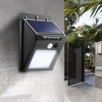 SOLAR CELL SENSOR WALL LIGTH LAMPU TAMAN DINGDING TENAGA SURYA 30 LED