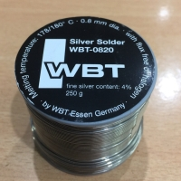 WBT 0820 4/% silver 250g premium grade audio solder from WBT Germany