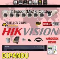 Paket Hikvision 8 Kamera Instalasi dan Setting dipandu
