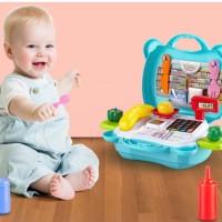Mainan edukasi anak koper set medical/kitchen
