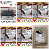 Paket CCTV Hikvision 4 Outdoor pemasangan dan setting dipandu