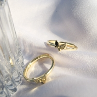 DearMe - BUTTERFLY Ring (925 Sterling Silver with 14k Gold Plated)