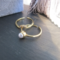 DearMe - ARCHIE Ring (925 Sterling Silver with Gold Plated)