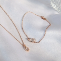 DearMe - RUTH Necklace (925 Sterling Silver with Rose Gold Plating)