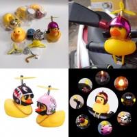 Mainan bebek helm baling baling motor
