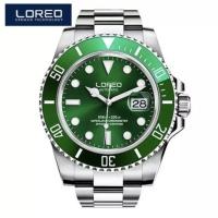 Jam Tangan Pria Homage Rolex Submariner Hulk Diver Loreo Automatic