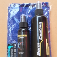 Paket Pembersih Helm Semi Coating 250ml+Parfum Helm+Lap Microfiber