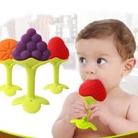 Mainan gigitan teether bayi bentuk buah-buahan
