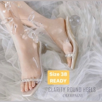 Clarity round heels champagne vbe cahaya collection