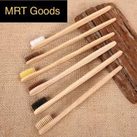 Sikat Gigi Tangkai Kayu Bambu dengan Bulu Sikat Lembut