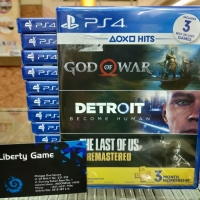 PS4 4 in 1 (GOW,DETROIT & THE LAST OF US RMS FREE PSPLUS 3 mont) Reg 3