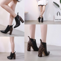 a96a9ad238bf LV Ankle Boot Black Semprem Leather