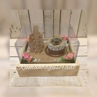 Kotak perhiasan nikah sudah di decor Rustic vintage