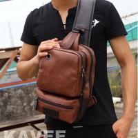 TAS SELEMPANG kulit sling bag tas pria tas kulit pria import premium 4