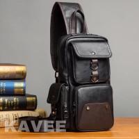 TAS SELEMPANG kulit sling bag tas pria tas kulit pria import premium 3
