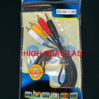 Kabel Aux 3.5mm Male to 3 RCA Male 1.5m / KABEL AUX 3.5 TO 3 RCA 1.5m