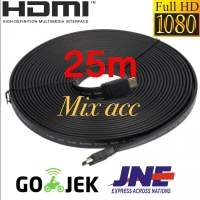 KABEL HDMI TO HDMI 25M FLAT VERSI 1.4 3D 1080P 25 m MALE to MALE HDMI