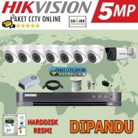 Paket CCTV Hikvision ( 8 Kamera ) High Res Instalasi Pasang Dipandu