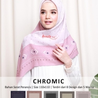 Hijab motif/ jilban segi empat/ hijab modis