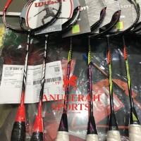 PROMO !!! Raket Badminton WILSON GLAZE & RECON ORIGINAL + BG 66 UM