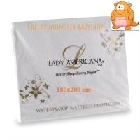 180 x 200 Lady Americana Pelindung Kasur Anti Air Matras Protector