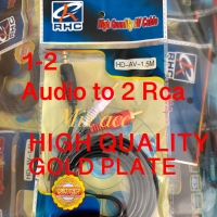 KABEL AUDIO TO 2 RCA GOLD PLATED 1.5M (1-2) / JACK 3.5 - 2 RCA 1.5 MTR
