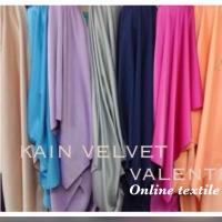 Kain Velvet premium silk/bahan kebaya,gamis,long dress bidang 1,5m.
