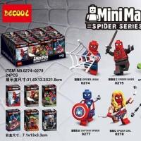 Minifigure Spiderman Decool 0274 Decool0275 Decool0276 Decool 0279