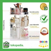 Rak Putar Kosmetik Acrylic (360 Derajat) TRANSPARAN / DIAMOND