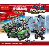 Decool 7104 Marvel Avengers Spiderman Cycle Chase