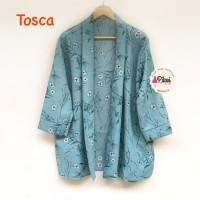 Summer Outer / Cardigan Pantai / luaran kimono / outer ikat / daun oke